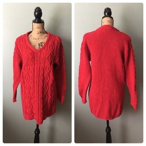 Partners size medium red chunky knit sweater!